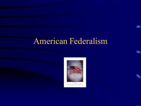American Federalism. Federalism A system in which the power to govern is shared between national and state governments.