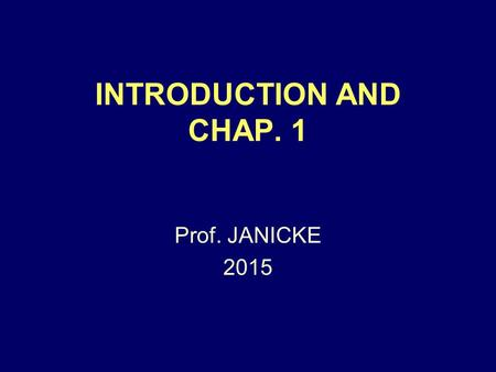 INTRODUCTION AND CHAP. 1 Prof. JANICKE 2015. Evid. Intro. + Chap. 1 2 THE SUBJECT IS: A BODY OF RULES, TELLING LAWYERS WHAT THEY CAN AND CAN'T (MOSTLY)