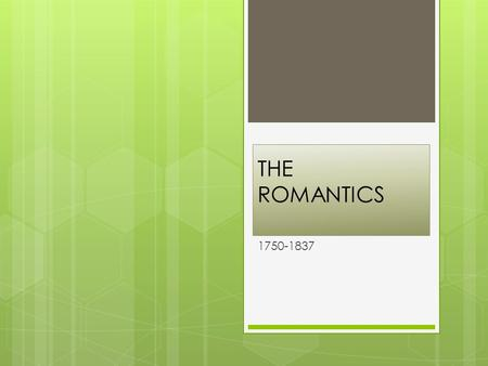 Romanticism and enlightenment essay SlidePlayer