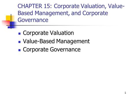 value based management Papers on value-based management here are some papers related to value-based management: the list is not exhaustive last modified: may 16, 2002.