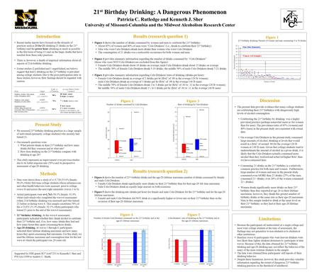 21 st Birthday Drinking: A Dangerous Phenomenon Patricia C. Rutledge and Kenneth J. Sher University of Missouri-Columbia and the Midwest Alcoholism Research.