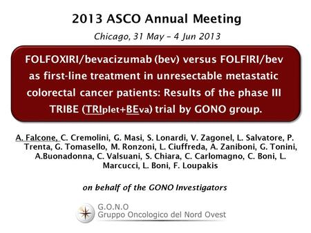 FOLFOXIRI/bevacizumab (bev) versus FOLFIRI/bev as first-line treatment in unresectable metastatic colorectal cancer patients: Results of the phase III.