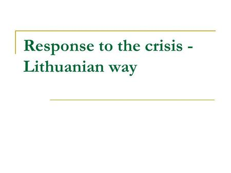 Response to the crisis - Lithuanian way. Dynamics of Compulsory Health Insurance Fund Budget and Gross Domestic Product (GDP) from 1998 to 2010.