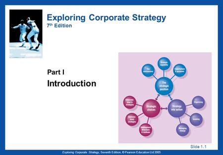 Slide 1. 1 Exploring Corporate Strategy, Seventh Edition, © Pearson Education Ltd 2005 Exploring Corporate Strategy 7 th Edition Part I Introduction.