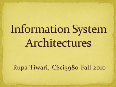 Rupa Tiwari, CSci5980 Fall 2010.  Course Material Classification  GIS Encyclopedia Articles  Classification Diagram  Course – Encyclopedia Mapping.