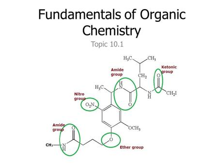 Fundamentals of Organic Chemistry Topic 10.1. functional groups are the reactive part of molecules see hand out giving: – class – functional group – suffix.