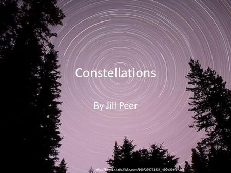 Constellations By Jill Peer