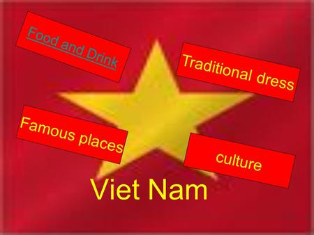 Viet Nam Food and Drink Traditional dress Famous places culture.