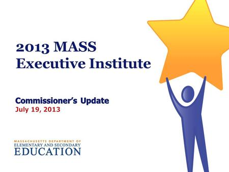 2013 MASS Executive Institute. More Than a Decade of Progress: Grade 10 MCAS % proficient or higher 2.