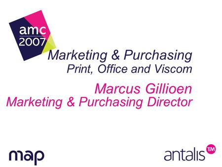 Marketing & Purchasing Print, Office and Viscom Marcus Gillioen Marketing & Purchasing Director.