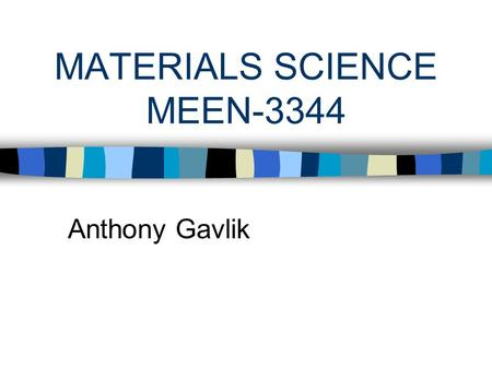 MATERIALS SCIENCE MEEN-3344 Anthony Gavlik. INHANCE TiC A Filler for Polymer Alloys.