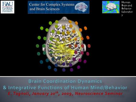 Human Brain and Behavior Laborator y. Mathematics Chemistry Biomedical science Psychology Physics Biology Engineering Philosophy Complexity.