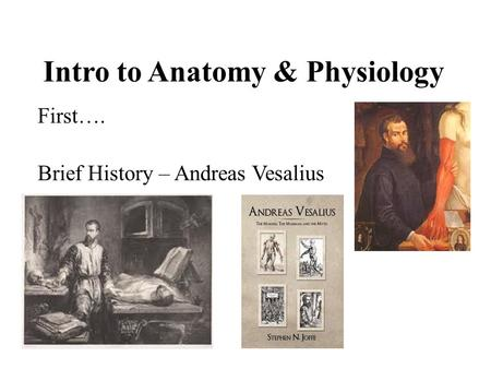 a brief history of anatomy and physiology