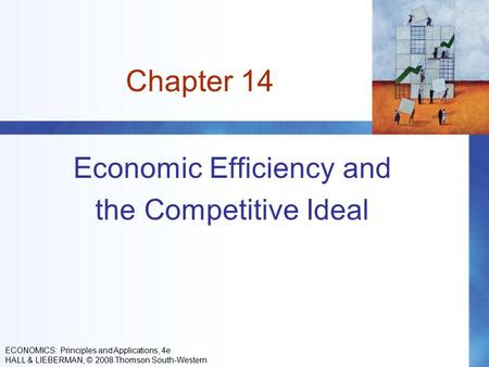 Chapter 14 Economic Efficiency and the Competitive Ideal ECONOMICS: Principles and Applications, 4e HALL & LIEBERMAN, © 2008 Thomson South-Western.
