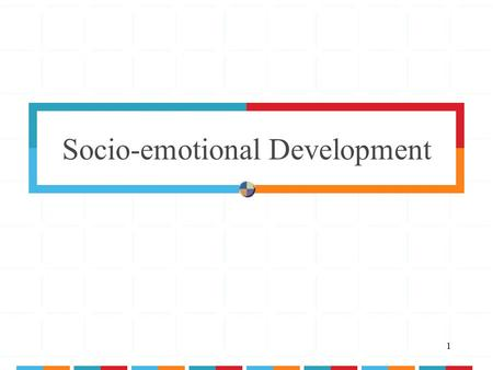 1 Socio-emotional Development. 2 Adolescent Socio-emotional Development Personality & Identity Development.