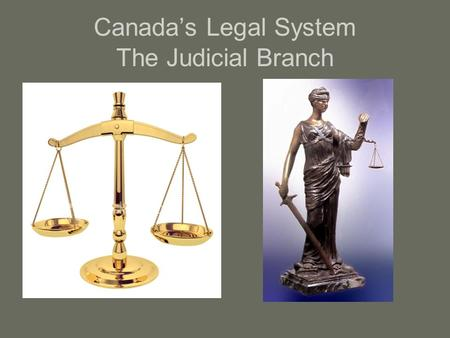 Canada's Legal System The Judicial Branch. Who is in the Judiciary Branch? Executive and Legislative branches = _________________ Police = _________________.