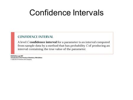 Confidence Intervals. Examples: Confidence Intervals 1. Among various ethnic groups, the standard deviation of heights is known to be approximately.