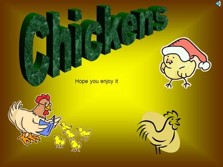 Hope you enjoy it Interesting facts A chicken is born by an egg. It takes 4 – 7 months for a chicken to become an adult. A chicken is a bird. A cockerel.