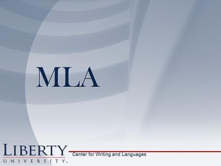 MLA Center for Writing and Languages. Name Professor Class Date Title Page number Last name 1 in. margin 1 in. margin 1 in. margin 1 in. margin ½ in.