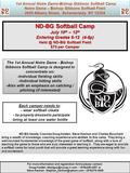 1st Annual Notre Dame-Bishop Gibbons Softball Camp Notre Dame – Bishop Gibbons Softball Field 2600 Albany Street, Schenectady NY 12304 1st Annual Notre.