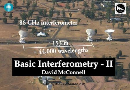 1 ATNF Synthesis Workshop 2001 Basic Interferometry - II David McConnell.