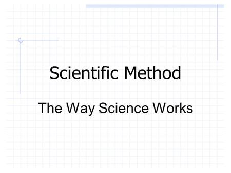 Scientific Method The Way Science Works. Science Science is a method of understanding the natural world. It is characterized by empirical criteria, logical.