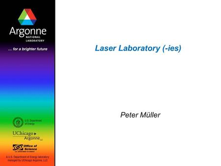 Laser Laboratory (-ies) Peter Müller. 2 Search for EDM of 225 Ra Transverse cooling Oven: 225 Ra (+Ba) Zeeman Slower Optical dipole trap EDM probe Advantages: