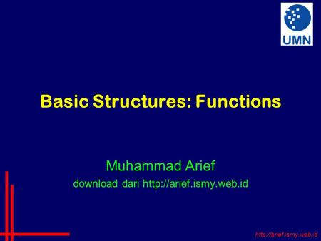 Basic Structures: Functions Muhammad Arief download dari