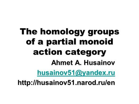 The homology groups of a partial monoid action category Ahmet A. Husainov