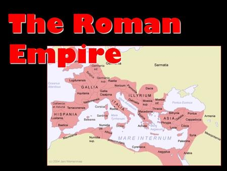 The Roman Empire. The Republic Collapses Economic Collapse Increasing gap between rich & poorIncreasing gap between rich & poor Population Breakdown:Population.
