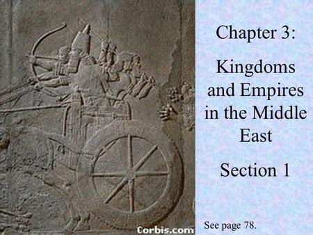 Chapter 3: Kingdoms and Empires in the Middle East Section 1 See page 78.