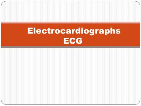 Electrocardiographs ECG. OUTLINES : Introducing what is meant by Biopotential signals. what is Electrocardiograph (ECG). The conduction system. The standard.
