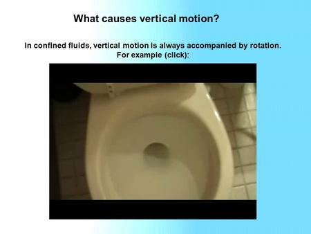 What causes vertical motion? In confined fluids, vertical motion is always accompanied by rotation. For example (click):