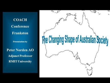Title of Presentation COACH Conference Frankston Presentation by Peter Norden AO Adjunct Professor RMIT University.
