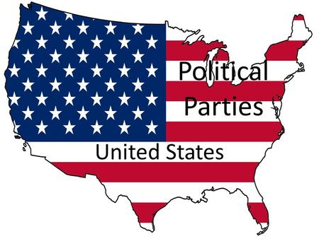 Political Parties United States. What is a political party? Group of persons, joined together on the basis of common principles, who seek to control government.
