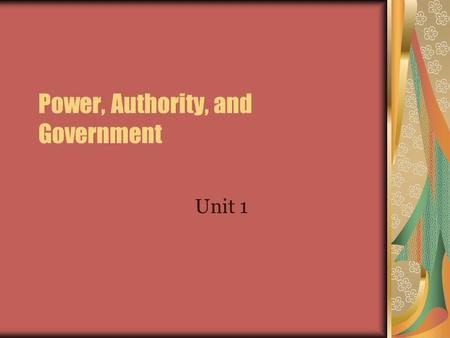 "Power, Authority, and Government Unit 1. Your ""Personal Power"" Assessment Divide your paper into 4 sections. In the first quadrant, make a list of all."