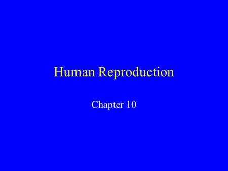Human Reproduction Chapter 10 A new human life begins when the male gamete(sperm cell) fuses with the female gamete (egg call) to form a new cell called.