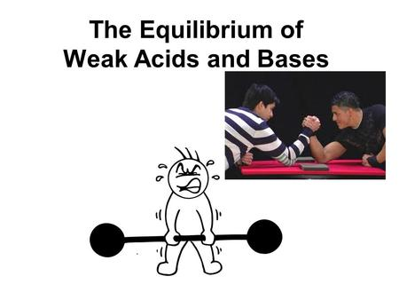The Equilibrium of Weak Acids and Bases. The dissociation of an acidic or basic compound in aqueous solution produces ions that interact with water (REVIEW!)