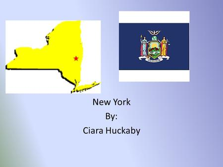New York By: Ciara Huckaby. Major Cities Albany is New York's state capital. New York City was the first city to have a newspaper published. Rochester.