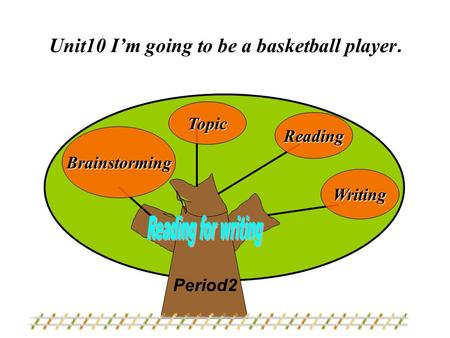 Topic Reading Brainstorming Writing Unit10 I'm going to be a basketball player. Period2.