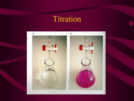 Titration What is It? Acid and base combined together Graph of pH as a function of volume of titrant is called a titration curve.