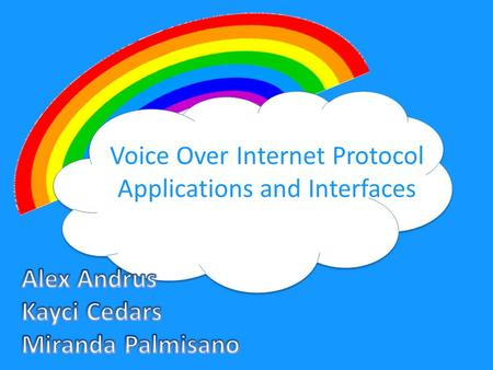 Voice Over Internet Protocol Applications and Interfaces.