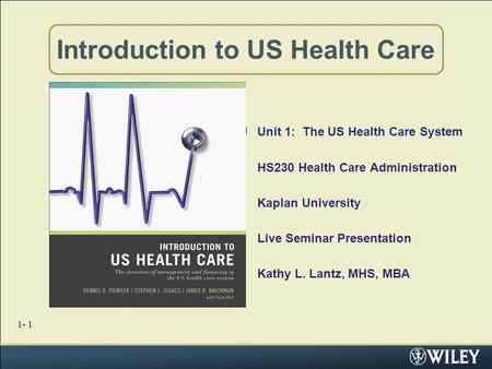 An introduction to the analysis of the health care information in the us