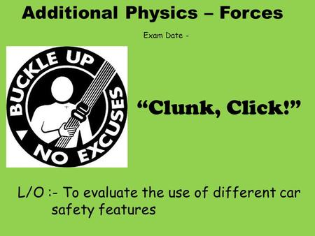 car safety physics essay example
