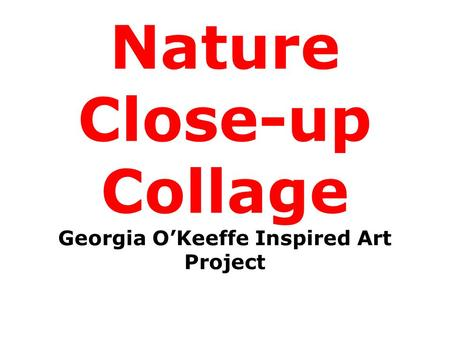 Nature Close-up Collage Georgia O'Keeffe Inspired Art Project.