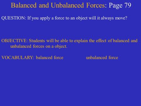 Science 8 balanced and unbalanced forces worksheet answers