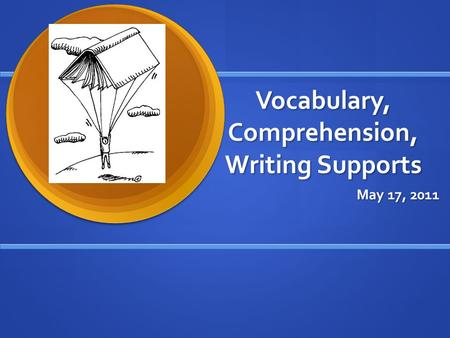 Vocabulary, Comprehension, Writing Supports May 17, 2011.