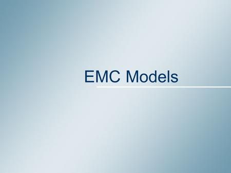EMC Models. March 2008 2 IC designers want to predict EMC before fabrication Models – What for ? Noise margin Switching Noise on Vdd IC designers want.