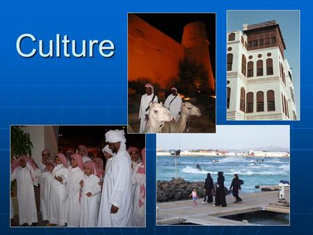Culture. How do we look at different cultures in a way that will help us describe a culture?