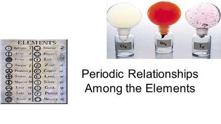 Periodic Relationships Among the Elements. General Periodic Trends Atomic and ionic sizeAtomic and ionic size Ionization energyIonization energy ElectronegativityElectronegativity.